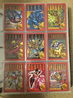 1993 Marvel X-MEN SERIES 2 Trading Cards COMPLETE BASE SET, #1-100 NM/M Skybox