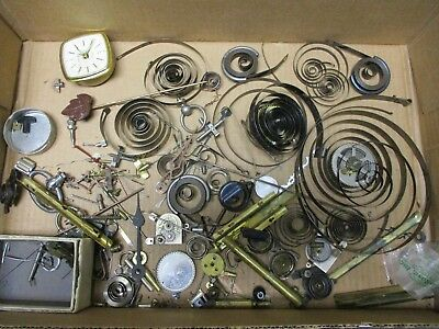 Vintage Clock Parts- Gears Springs & Other Stuff for Steampunk or Repair/Restore