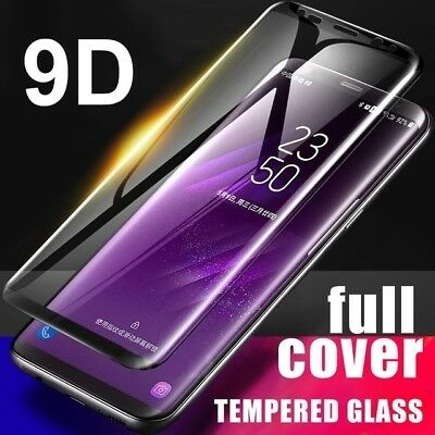 9D Curved Tempered Glass Screen Protector For Samsung Galaxy S9 S8 + Note 8 9 AU