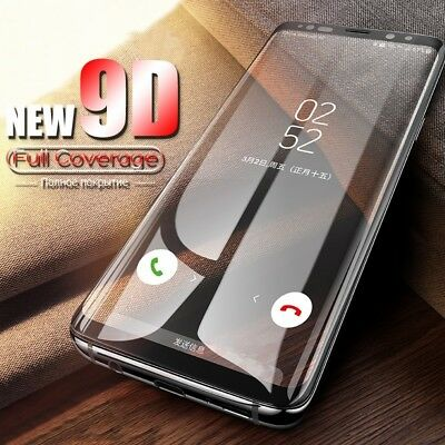 Full Cover Tempered Glass for Samsung Galaxy S8 S9 Note 8 9 Screen Protector UK