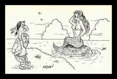 Dr Jim Stamps Us American Indian Mermaid Comic Jac Postcard