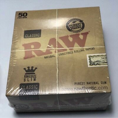 100X Classic: Authentic RAW Rolling Papers - King Size Slim