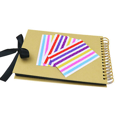DIY Scrapbooking Scrapbook Photo Album Hardcover Book Kit 80 Pages for Wedding