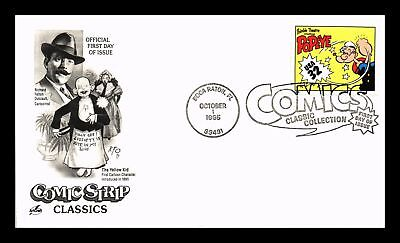 Dr Jim Stamps Us Popeye Classic Comics First Day Cover 1996 Boca Raton