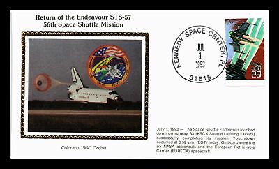Dr Jim Stamps Us Space Shuttle Endeavour Colorano Silk Event Cover 1993