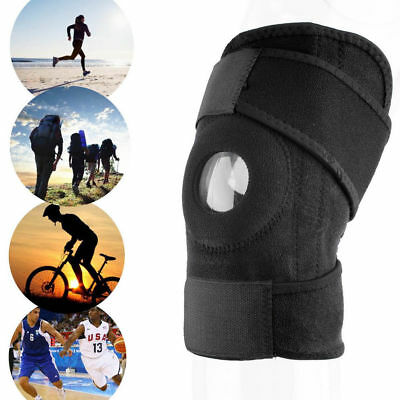 Black Neoprene Adjustable Open Knee Patella Tendon Support Brace Sleeve EF