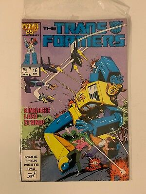 Marvel Comics The Transformers #16 Plight of The Bumblebee Copper Age