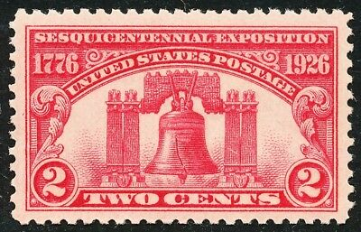 Dr Jim Stamps Us Scott 627 2C Liberty Bell Unused Og Nh No Reserve Free Shipping