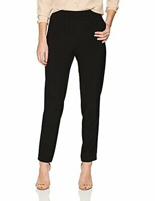 Nine West Women's Crepe Pull On Pant, Black, 8
