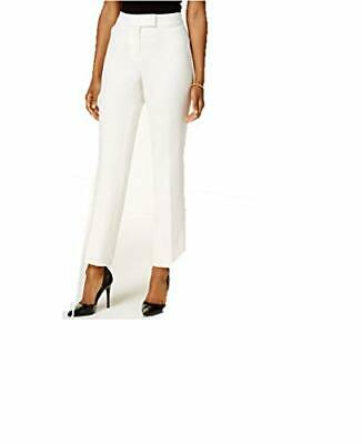 Tahari ASL Straight-Leg Pants IvoryWhite 16