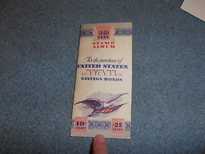 Us Wwii Savings Bond Booklet W/stamps