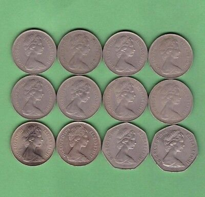 Great Britain - 10 & 50 Pence Coin Collection Lot - World/Foreign/Europe