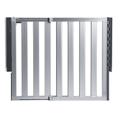 Munchkin Loft Aluminum Hardware Mount Baby Gate for Stairs, Hallways and Doors,