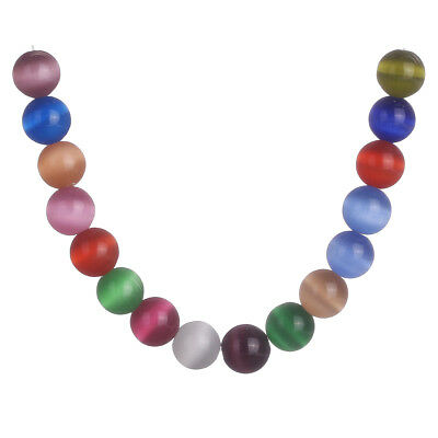 50Pcs 10mm Round Multicolor Glass DIY Loose Spacer Beads Jewelry Findings New