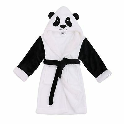 8e6a0d5a22 Arctic Paw Kids  Zoo Crew Plush Soft Hooded Terry Bathrobes - Panda