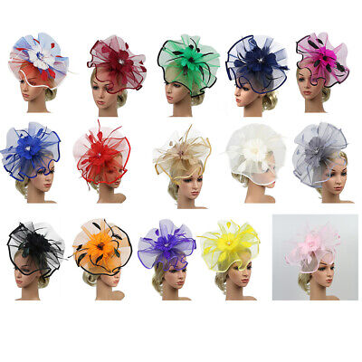 Vintage 20s  Theme Feather Hair Clips Fascinator Party Flower Headwear