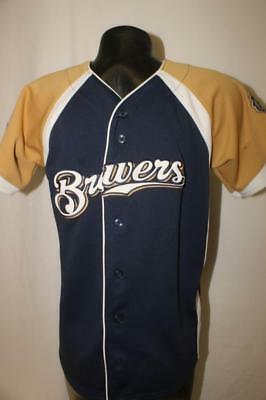authentic MILWAUKEE BREWERS Youth Medium mlb Jersey Majestic Ryan Braun