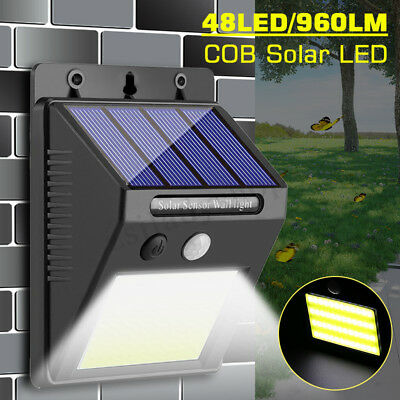 48LED 960LM COB LED Solar Light Motion Sensor Security Wall Lamp Waterproof NEW