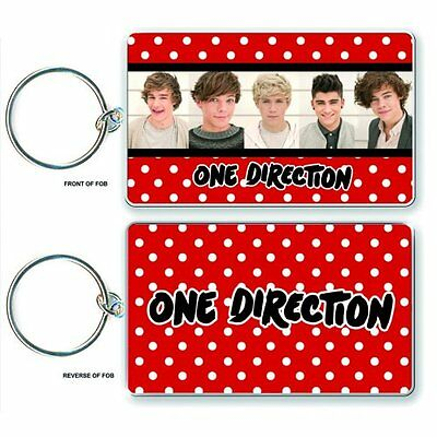 New One Direction 1D Keychain Key Ring Chain Band Photo Keyring Official Product