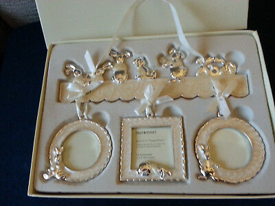 Brand New Past Times Bunny Trio Hanging Photo Frames