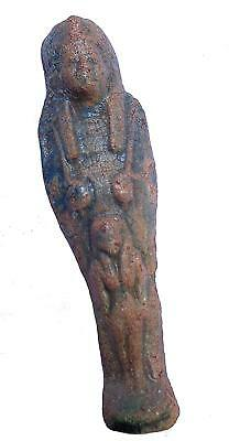 ANCIENT ANTIQUE Egyptian EGYPTIAN glazed stone statue of Sekhmet (300-1500 BC