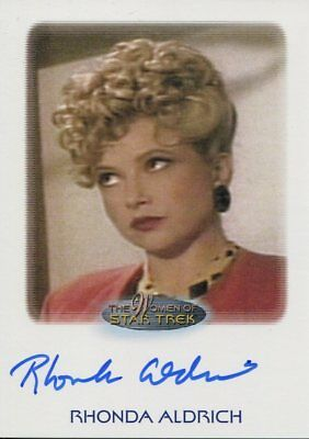 The Women Of Star Trek 2010 Autograph Rhonda Aldrich