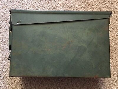 ONE - 30 Cal Ammo Can Army Military M19A1 Metal Storage Box 7.62 MM Great Cond.