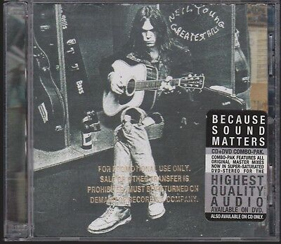 NEIL YOUNG Greatest Hits [HDCD] 2 Disc Combo Pak CD & DVD Gold Stamp Promo RARE