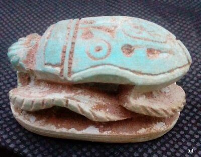 2 RARE ANCIENT EGYPTIAN ANTIQUE Scarab 1785-1569 BC