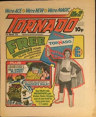 TORNADO - ISSUE 2 - MARCH 1979 - EXCELLENT CONDITION (Pre 2000AD ft JUDGE DREDD)