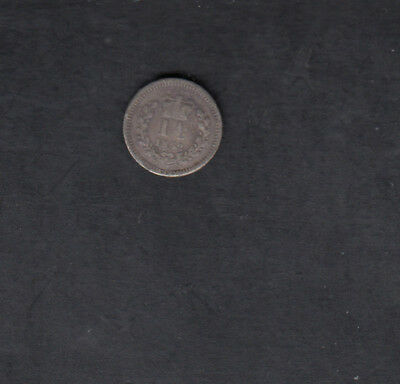 1862 Great Britain Silver 1 1/2 Penny