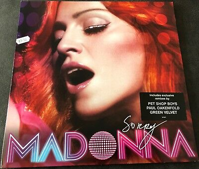 "Madonna - Sorry 12"" Vinyl Remixes Pet Shop Boys, Oakenfold, Green Velvet - W703T"