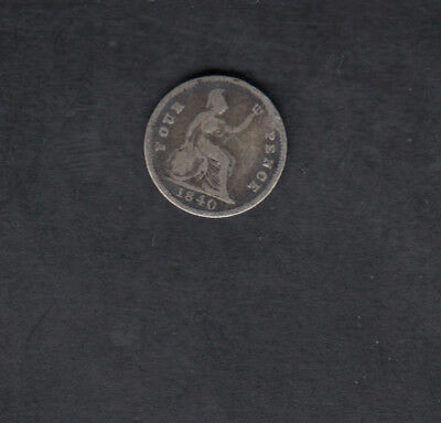 1840 Great Britain Silver 4 Pence