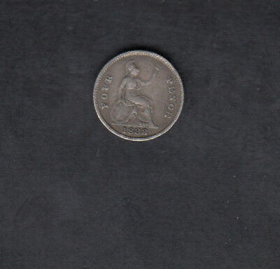 1888 Great Britain Silver 4 Pence