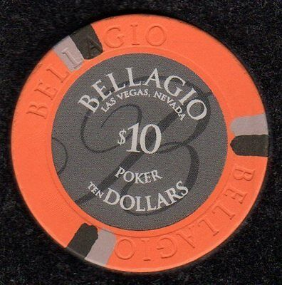 $10 Las Vegas Bellagio Poker Room Casino Chip - VG