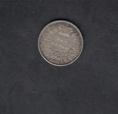 1851 Great Britain Silver 6 Pence