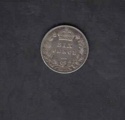 1904 Great Britain Silver 6 Pence