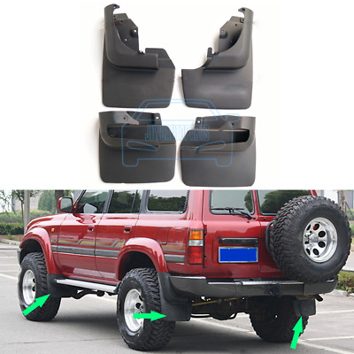 For Toyota Land Cruiser LC80 FJ80 1991-1997 Front Rear Mud Flaps Splash Guard