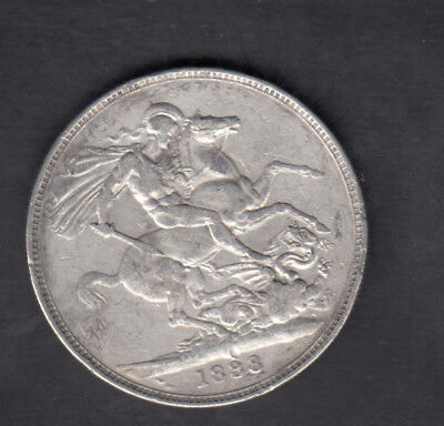 1888 Great Britain Silver Crown