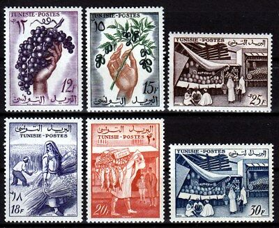 TUNISIA 1956 ☀ Agricultural products Mi.473/478 ☀ 6v MH