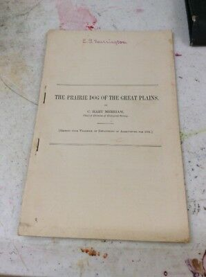 US DEPARTMENT OF AGRICULTURE FARMERS BULLETIN Prairie Dog Of Great Plains 1901