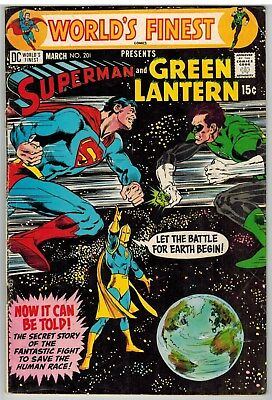 World's Finest Comics #201 1971 Neal Adams Cover Dc Bronze Age!