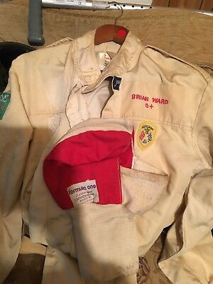 Vintage, Racing Drivers Suit, Overall And Formula One Hood.