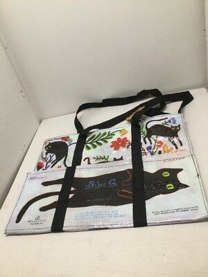 HERE KITTY BLUE-Q Shoulder Tote New Reusable 11