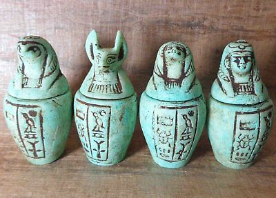 Canopic Jars Organs Storage Statues ANCIENT EGYPT ANTIQUE Egyptian