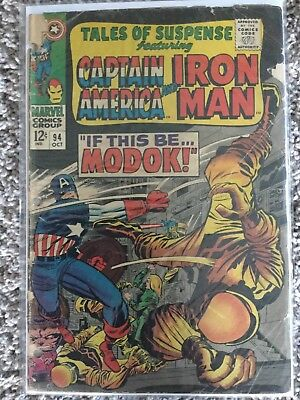 Tales Of Suspense 94 KIRBY first Modok 1967 Captain America And Iron Man