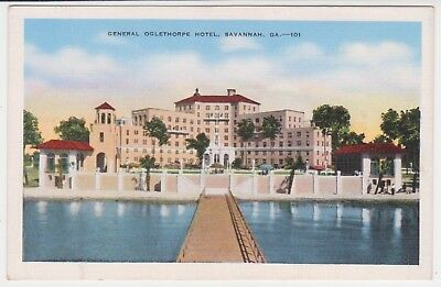 GENERAL OGLETHORPE HOTEL – SAVANNAH, GEORGIA - circa 1940's Postcard