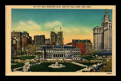 Dr Jim Stamps Us City Hall Municipal Building City Hall Park New York Postcard