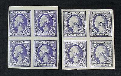 CKStamps: US Stamps Collection Scott#535 (2) 3c Block Mint 1H 1HR OG