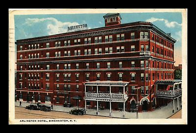 Dr Jim Stamps Us Arlington Hotel Binghamton New York View Postcard